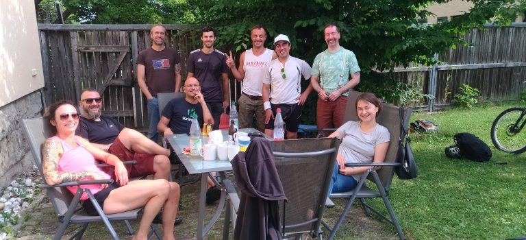 Gäste im Pfarrgarten