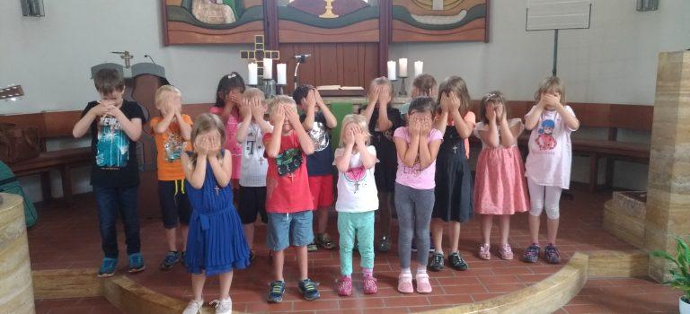 Kindergartenvorschulkindersegnung